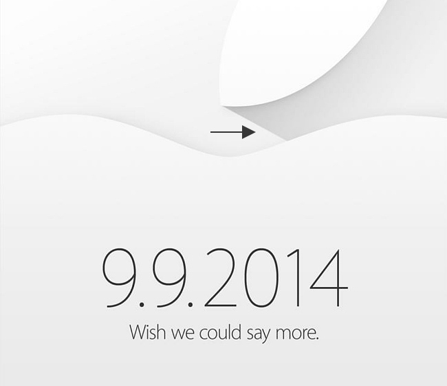 Apple uses a Flat-Style Long Shadow in the Graphic for iPhone 6 Event.