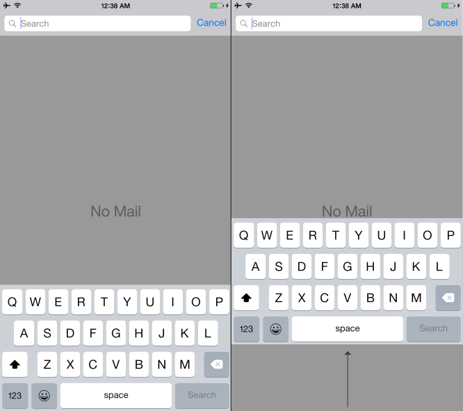 iPhone 6 Plus Keyboard Needs to Move Up.
