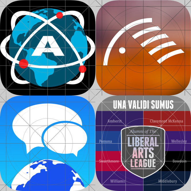 iOS App Icons Designed With The Grid